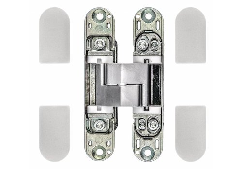 Invisible 3D hinge AGB eclipse 3 stainless steel