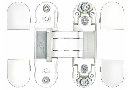 UNSICHTBARES 3D-SCHARNIER AGB ECLIPSE 2 WEISS