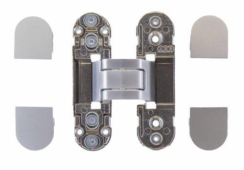 Unsichtbares 3D-Scharnier AGB Eclipse 2 Edelstahl