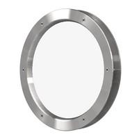 Patrijspoort B4000-A6 300 mm inox look + doorzichtig veiligheidsglas