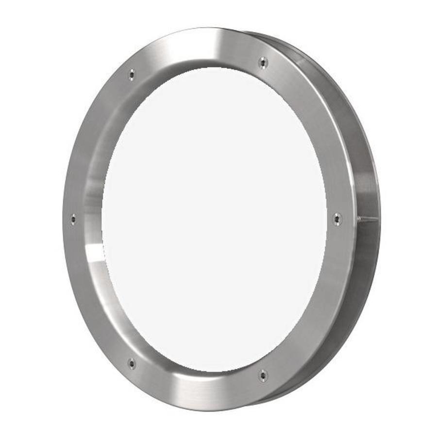 Patrijspoort B4000-A6 350 mm RVS look + doorzichtig veiligheidsglas