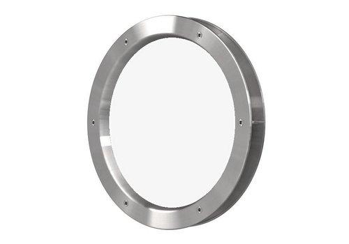 Patrijspoort B4000-A6 rvs look 400 mm + doorzichtig veiligheidsglas