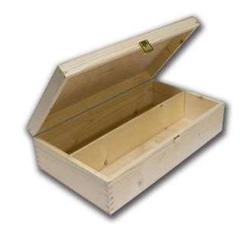2-vaks luxe houten wijnkist met slot