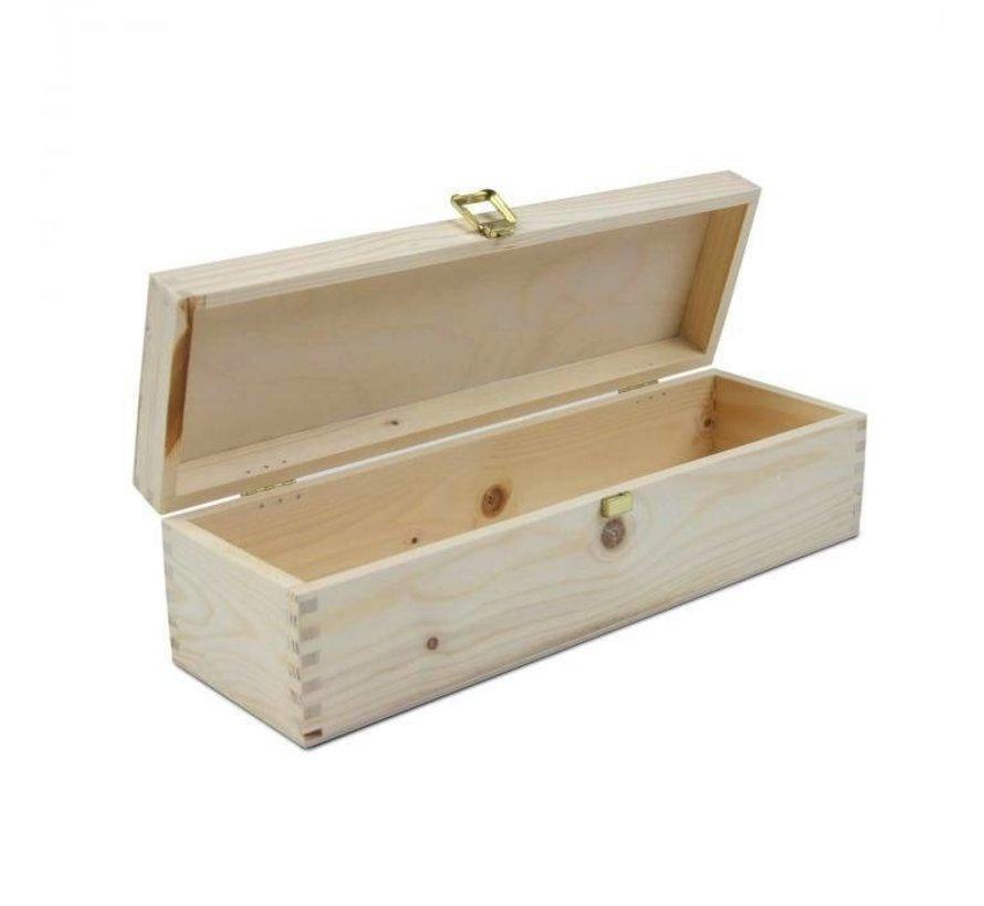 1-vaks luxe houten wijnkist met slot