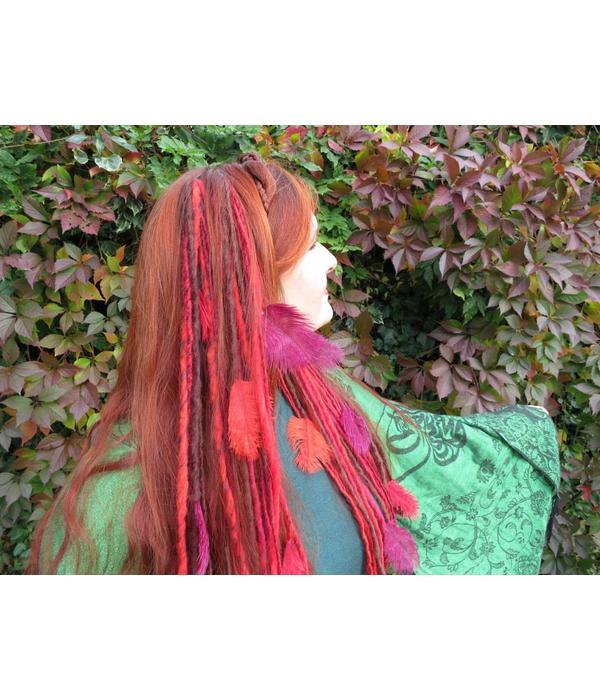 Clip-In Feather Dreadlocks, many colors