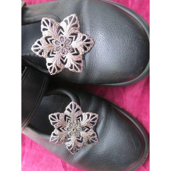 Gothic Silberblume Schuhclip & Haarschmuck