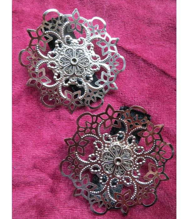 Haarblume Gothic Ornament- silber