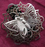 Gothic Hair Jewelry Set, silver
