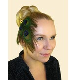 Peacock Feather Tribal Headpiece Gold