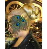 Tribal Pfauenfeder Headpiece, gold