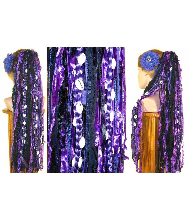 Cowry Extensions for yarn & dread falls
