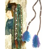 Cowry & Feather Extensions for dread falls