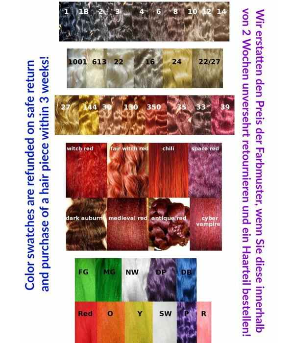 Color swatches for custom hair piece Your hair color MAGIC ...