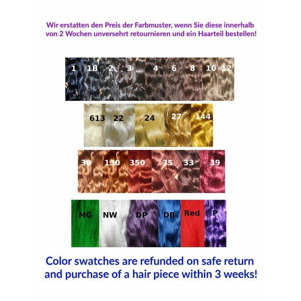 Farbmuster extra lange Haare, Rückerstattung möglich