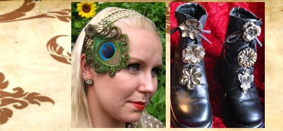 Haarschmuck, Fascinator & Schuhclips