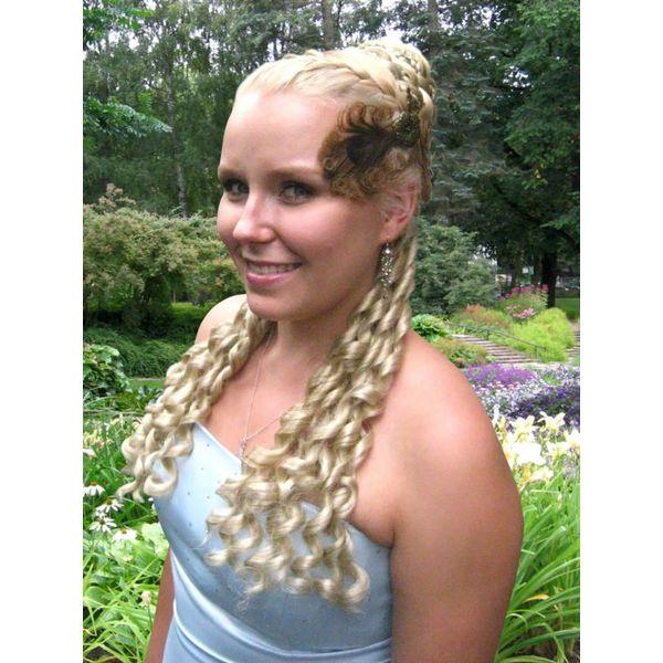 Club curls clip in hair falls, Sissi/ Baroque