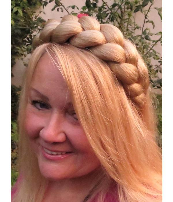 XXL Zopfhaarband Gretel - Blondmix 22&24