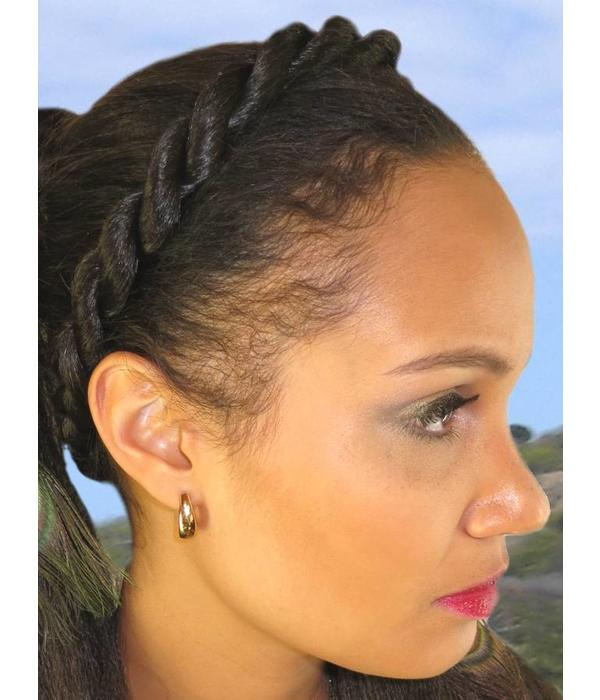 Afro Twist Headband, thick braid