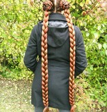2 Haarteile, S Plus  extra, gekrepptes Haar
