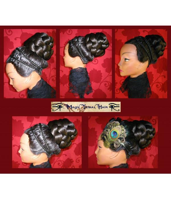 Haarteil, Größe M extra, leicht gekrepptes Haar