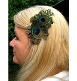 Bronze Peacock Butterfly Hair Clip