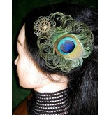 Steampunk Peacock Feather Fascinator