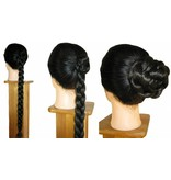 2 Twist Zöpfe Größe S, gekrepptes Haar