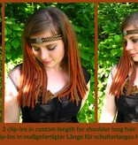 Steampunk Clip-In Dreads weinrot, blond, braun