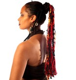 Fire Tribal Fusion Haarteil aus Bändern
