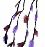 2x Purple Passion Feather Extensions - Color 1 black