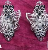 Butterfly Hair Jewelry & Shoe Clip, silver
