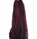 Dreads black & wine red