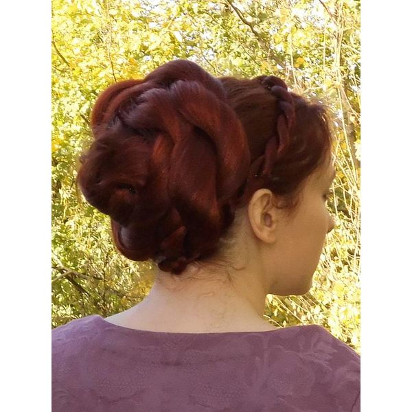 Rose Bun Chignon & L Twist Braid