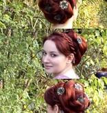 Dutt Rose Bun aus L Twist Zopf, gekrepptes Haar