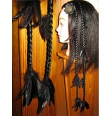 Raven Goth Feder-Extensions