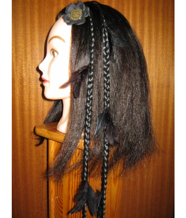Raven Goth Feather Extensions