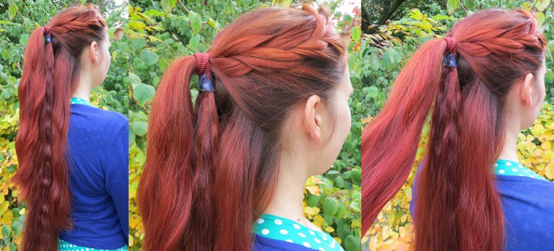 Befestigung des Zopfwunder Haarteils, Schritt 1