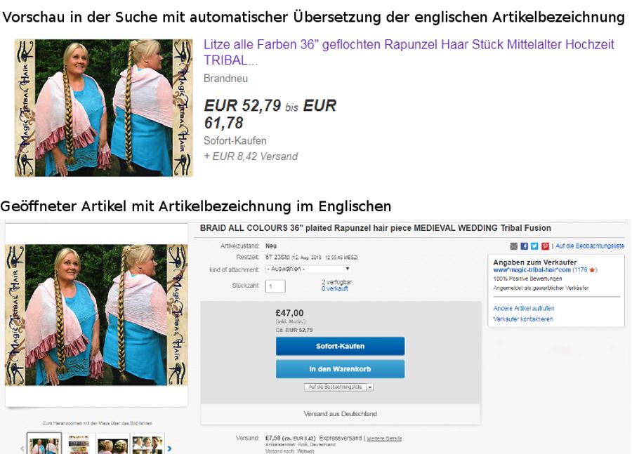 Kuriositäten durch automatische Übersetzungen vom Englischen ins Deutsche