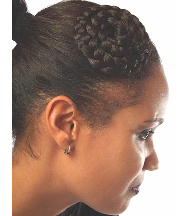Hair Rosette, braided & twisted, large