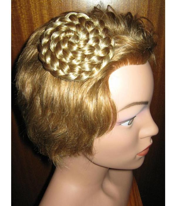 Haarschnecke, geflochten & gedreht, groß