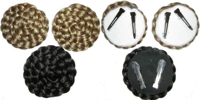 Befestigung der Haarschnecke, Rückseite mit 2 Clips