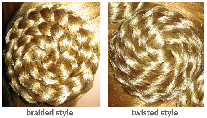 Hair roses come in braided or twisted style!