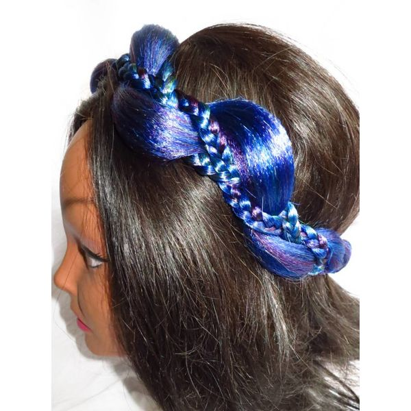 Mermaid Braid Headband, northern lights colors