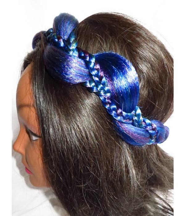Mermaid Braid Headband, northern lights colors