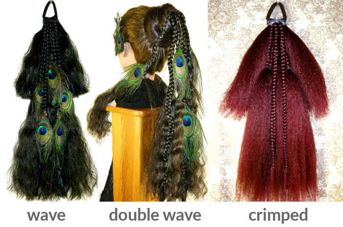 Pick from 3 textures for Magician Peacock hair falls!