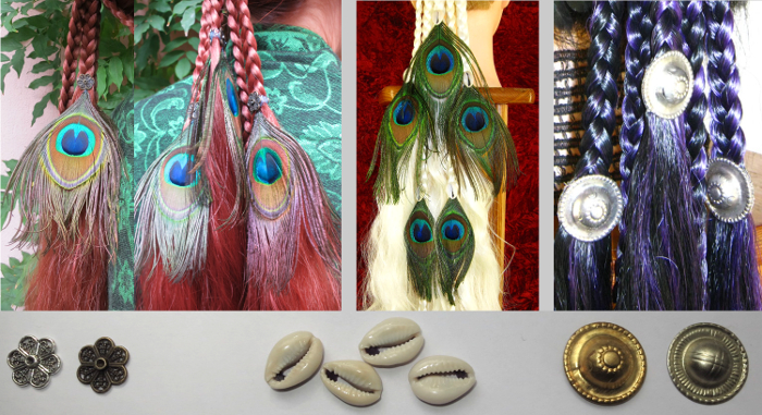 Additional adornments for Magician Peacock hair falls