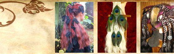 Fantasy Magierin Haarteile