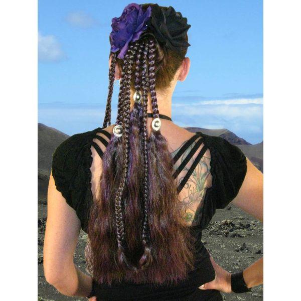 Goth Magician Witch hair falls