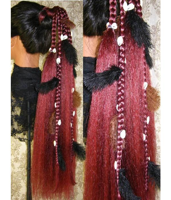 Gipsy Magician Hair Falls M feathers & cowries