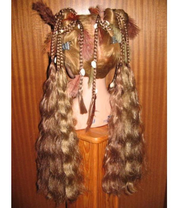 Hair fall pair Gipsy Magician M feathers & cowries